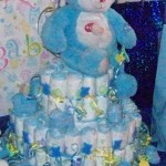 BEARY BLUE DIAPER CAKE FOR A BABY BOY