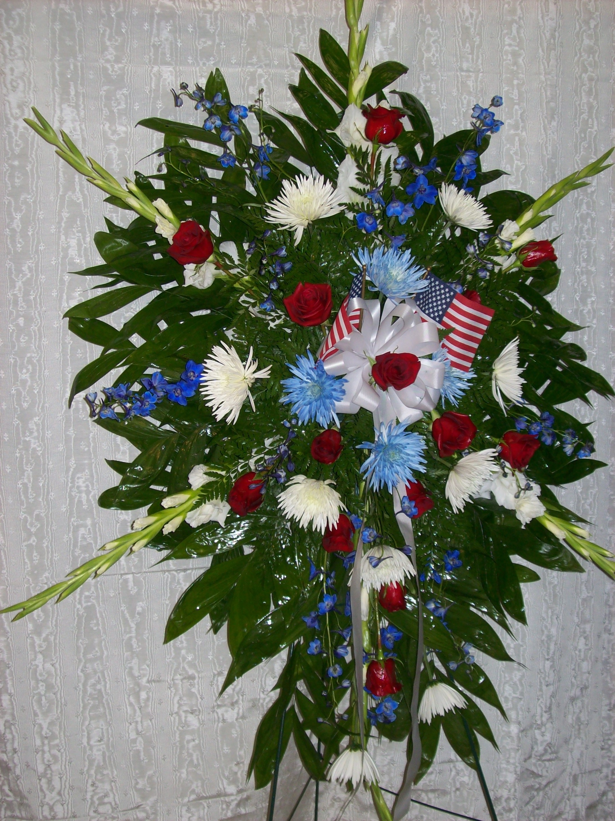Galax florist in downtown galax va delivers family sprays sympathy military stand up spray izmirmasajfo